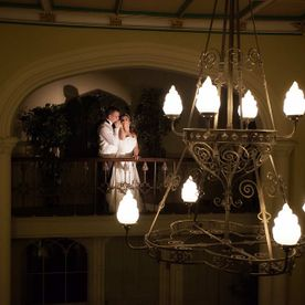 Chandelier at Hawkesyard Estate