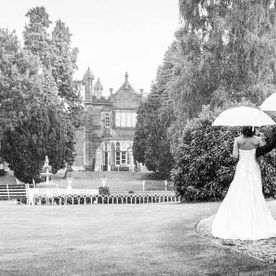 A wedding in the gardens of Hawkesyard Estate