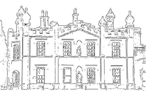 sketch of hawkesyard estate